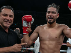 Gilberto Ramirez knocked out Sullivan Barrera in four rounds in California Photo Credit: Golden Boy Promotions