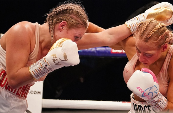Ebanie Bridges was beaten by Shannon Courtenay in a thrilling battle for the WBA bantamweight world title in April Photo Credit: Dave Thompson/Matchroom Boxing
