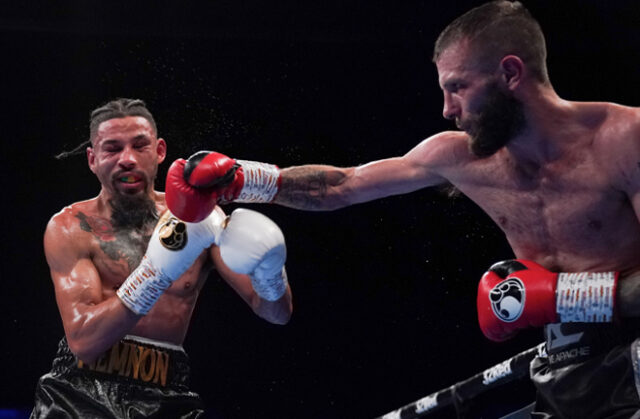 Anthony Cacace put in a impressive performance to beat Lyon Woodstock convincingly on the judges scorecards last night in Birmingham. Photo Credit: Frank Warren / Queensberry Promotions.