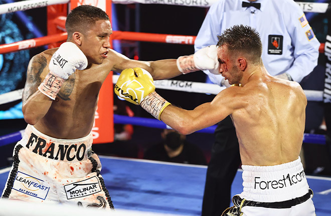 Franco beat Moloney by unanimous decision in their first clash in June 2020 Photo Credit: Mikey Williams / Top Rank