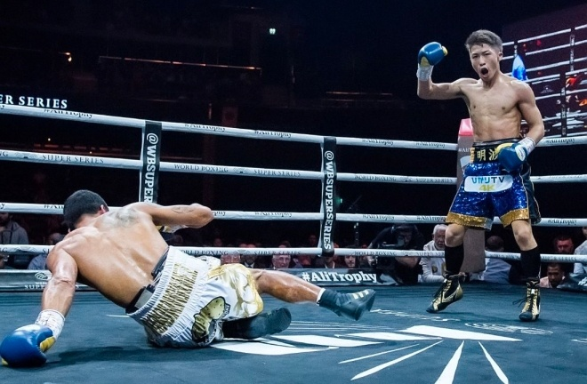 Inoue blew away Emmanuel Rodriguez in two rounds to win the IBF bantamweight crown in Glasgow.