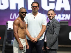Kid Galahad clashes with Jazza Dickens in rematch for the IBF featherweight world title at Fight Camp on Saturday night Photo Credit: Mark Robinson/Matchroom Boxing