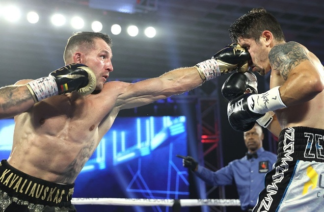 Kavaliauskas saw off Mikael Zewski in eight rounds in September 2020 Photo Credit: Mikey Williams / Top Rank