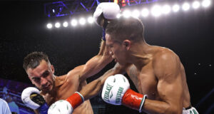 Joshua Franco beat Andrew Moloney by unanimous decision in their trilogy in Tulsa on Saturday Photo Credit: Mikey Williams/Top Rank via Getty Images