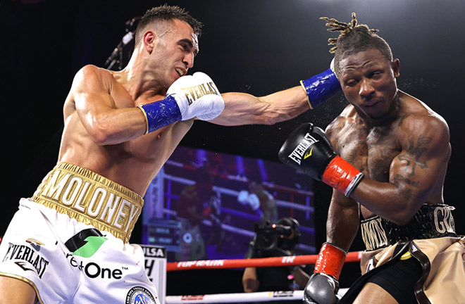 Jason Moloney bounced back from defeat to Naoya Inoue with victory over Joshua Greer Jr Photo Credit: Mikey Williams/Top Rank via Getty Images