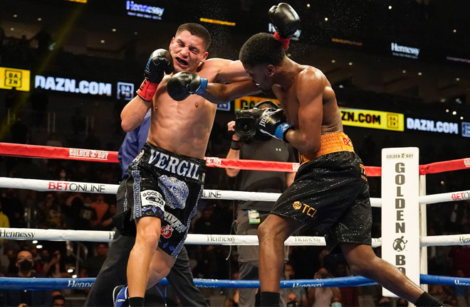 Ortiz Jr stopped Maurice Hooker in seven rounds in March Photo Credit: Dallas News