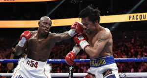 Yordenis Ugas claimed a unanimous decision win over Manny Pacquiao in Las Vegas on Saturday night Photo Credit: Scott Kirkland/FOX Sports