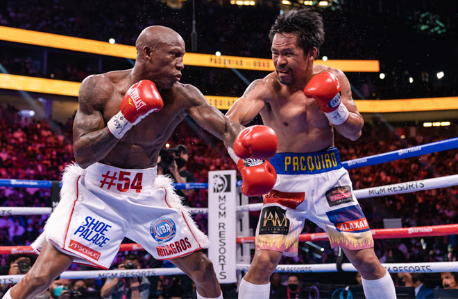Ugas was able to limit Pacquiao's success Photo Credit: Ryan Hafey/Premier Boxing Champions