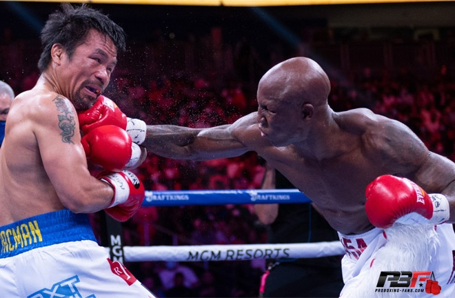 Ugas put on a dominant display to defeat Pacquiao Photo Credit: Pro Boxing Fans