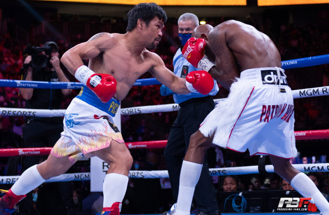 Pacquiao had some success, but was limited by Ugas in the main Photo Credit: Pro Boxing Fans