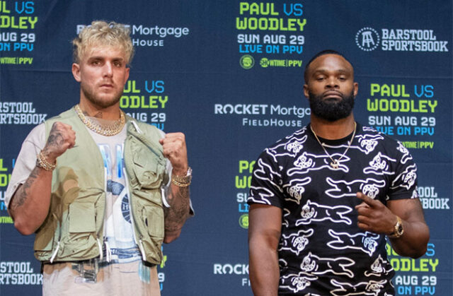 Jake Paul fights in his hometown of Ohio against Tyron Woodley on Sunday night Photo Credit: Esther Lin/SHOWTIME
