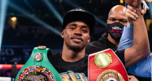 Errol Spence Jr is looking to face the winner of Manny Pacquiao vs Yordenis Ugas withdrawing from his scheduled August 21 showdown with Manny Pacquiao due to an eye injury Photo Credit: Ryan Hafey / Premier Boxing Champions