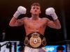 Leigh Wood celebrates after becoming WBA 'regular' featherweight world champion Photo Credit: Mark Robinson/Matchroom Boxing
