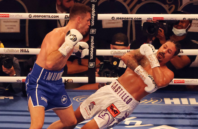 Callum Smith knocked Lenin Castillo out cold in two rounds Photo Credit: Ian Walton/Matchroom Boxing