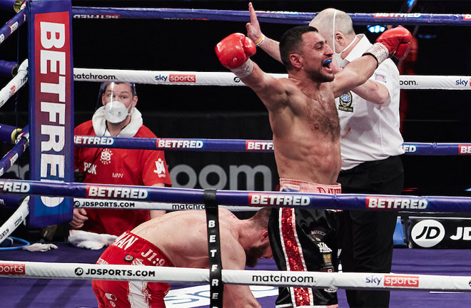 David Avanesyan proved too strong for Josh Kelly in February Photo Credit: Mark Robinson/Matchroom Boxing