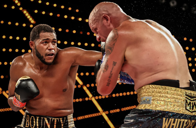 Michael Hunter stopped Mike Wilson in four rounds in August Photo Credit: Amanda Westcott/Triller Fight Club