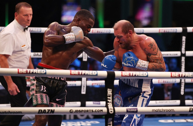 Buatsi scored an impressive victory over Ricards Bolotniks at Fight Camp Photo Credit: Mark Robinson/Matchroom Boxing