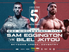 Sam Eggington defends his WBC Silver middleweight title against Bilel Jkitou on Friday