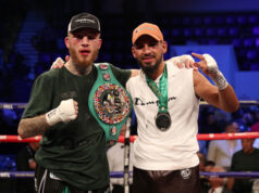 Sam Eggington retained his WBC silver middleweight title seeing off unbeaten Bilel Jkitou via split decision. Photo Credit: Hennessy Sports (Twitter)