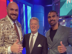 Frank Warren has given his view on David Haye calling out Tyson Fury Photo Credit: @davidhaye Instagram