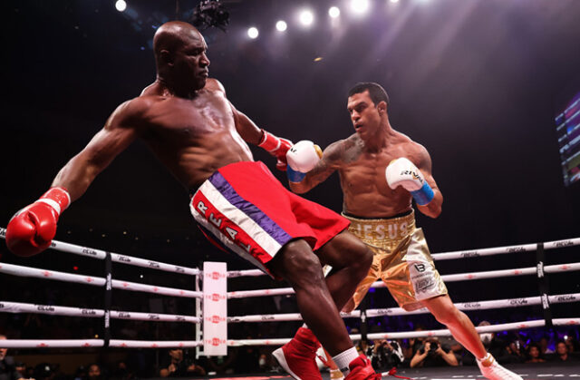 Evander Holyfield was stopped in the first round of his return by Vitor Belfort Photo Credit: Amanda Westcott/Triller Fight Club
