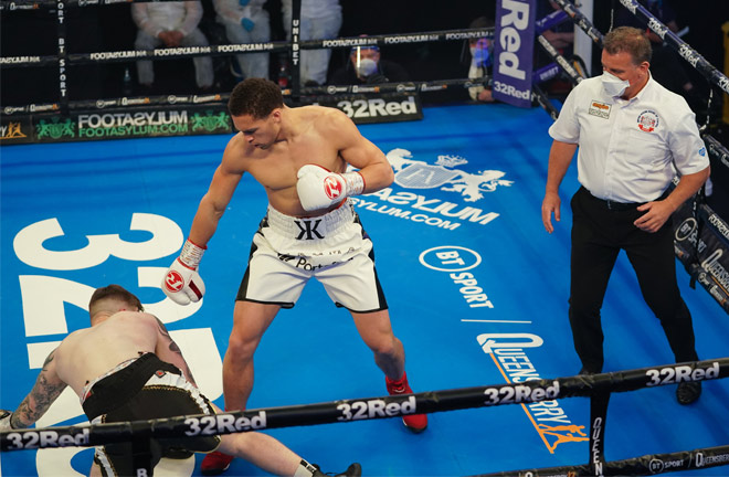 Karol Itauma has won two of his opening three fights by stoppage Photo Credit: Queensberry Promotions