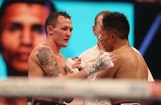 Josh Warrington faces Mauricio Lara in a rematch in Leeds on Saturday Photo Credit: Mark Robinson/Matchroom Boxing