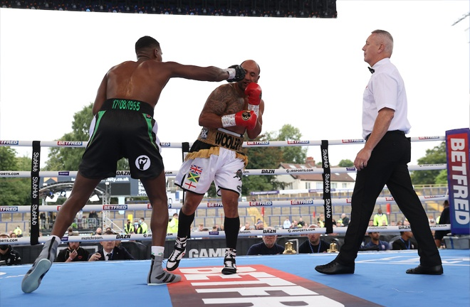 Mali Wright impressed on his debut with a 2nd round stoppage. Photo Credit: Mark Robinson / Matchroom Boxing