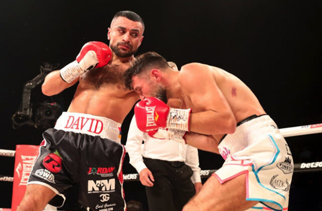 David Avanesyan blitzed Liam Taylor in two rounds at the SSE Arena Photo Credit: Lawrence Lustig/BOXXER