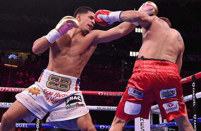 Edgar Berlanga climbed off the canvas to beat Marcelo Esteban Coceres Photo Credit: Frank Micelotta/Fox Sports/PictureGroup