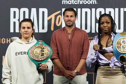 Chantelle Cameron and Mary McGee clash in a two-belt super lightweight unification this Saturday Photo Credit: Mark Robinson/Matchroom Boxing