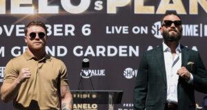 Canelo Alvarez has predicted a knockout victory over Caleb Plant on November 6 Photo Credit: Amanda Westcott/SHOWTIME