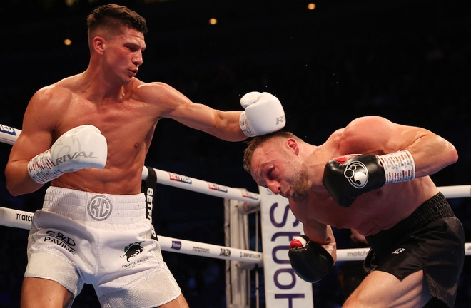 Kieron Conway claimed a unanimous decision win over JJ Metcalf Photo Credit: Mark Robinson/Matchroom Boxing