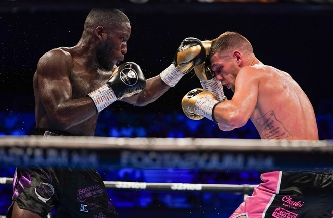 Ekow Essuman secured the British and Commonwealth welterweight titles with victory over Chris Jenkins in July Photo Credit: Queensberry Promotions