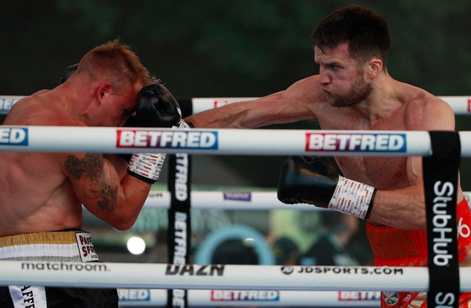 Fowler halted Rico Mueller at Fight Camp in July Photo Credit: Ian Walton/Matchroom Boxing