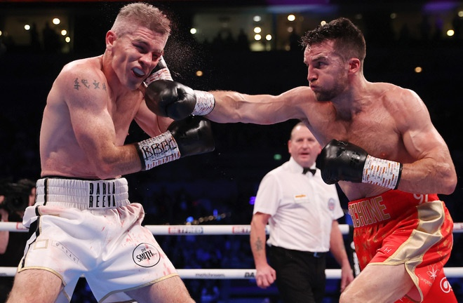 Fowler had success early on Photo Credit: Mark Robinson/Matchroom Boxing