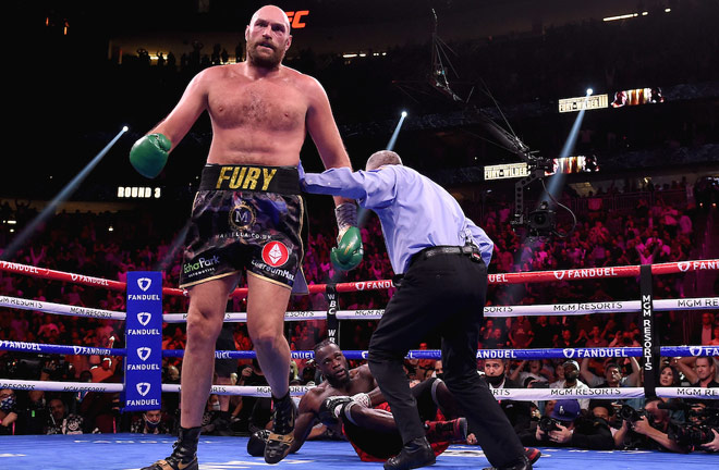 Fury had Wilder down in the third Photo Credit: Frank Micelotta/Fox Sports/PictureGroup