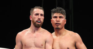 Sandor Martin upset the odds to beat four-weight world champion, Mikey Garcia in Fresno on Saturday Photo Credit: Melina Pizano/Matchroom