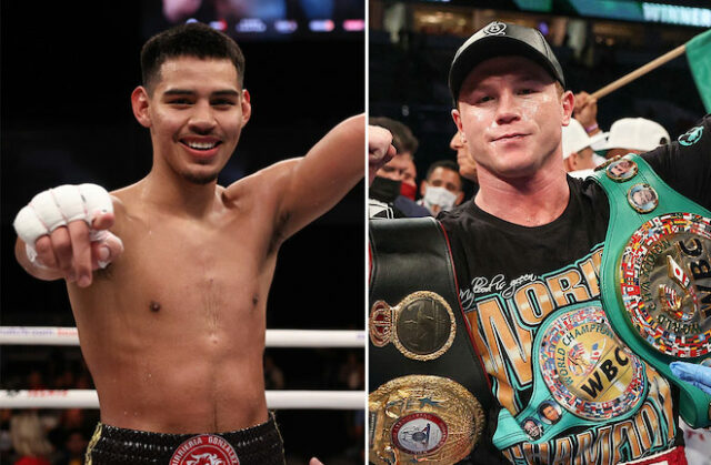 Diego Pacheco says he learnt a lot from sparring unified super middleweight champion, Canelo Alvarez ahead of his return to action on Saturday Photo Credit: Ed Mulholland/Matchroom Boxing USA