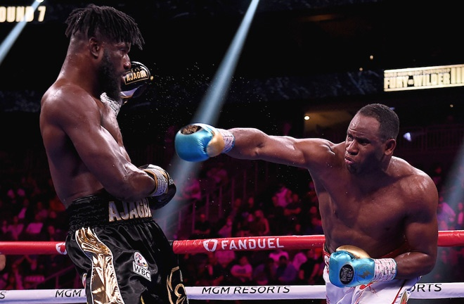 Frank Sanchez overcame Efe Ajagba in the battle of undefeated heavyweights Photo Credit: Frank Micelotta/Fox Sports/PictureGroup