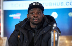 Dillian Whyte has withdrawn from his October 30 showdown against Otto Wallin after suffering a shoulder injury Photo Credit: Mark Robinson/Matchroom Boxing