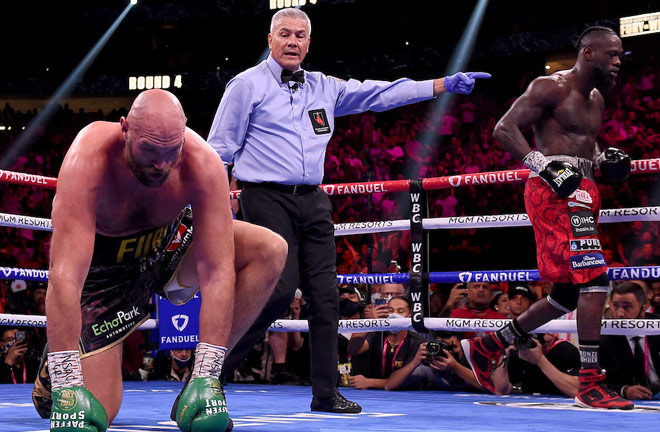 Wilder roared back to knock Fury down twice in the fourth round Photo Credit: Frank Micelotta/Fox Sports/PictureGroup